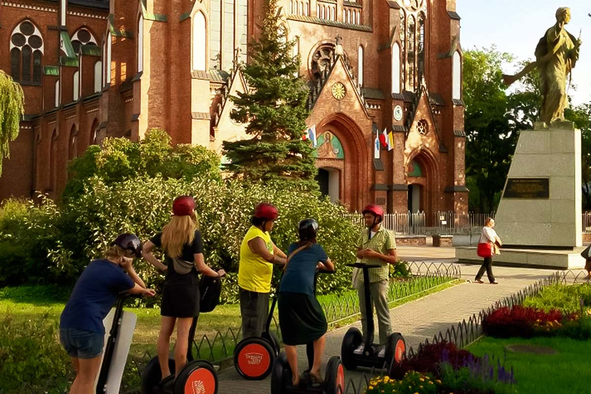 Gliding through beutiful Warsaw on a segway