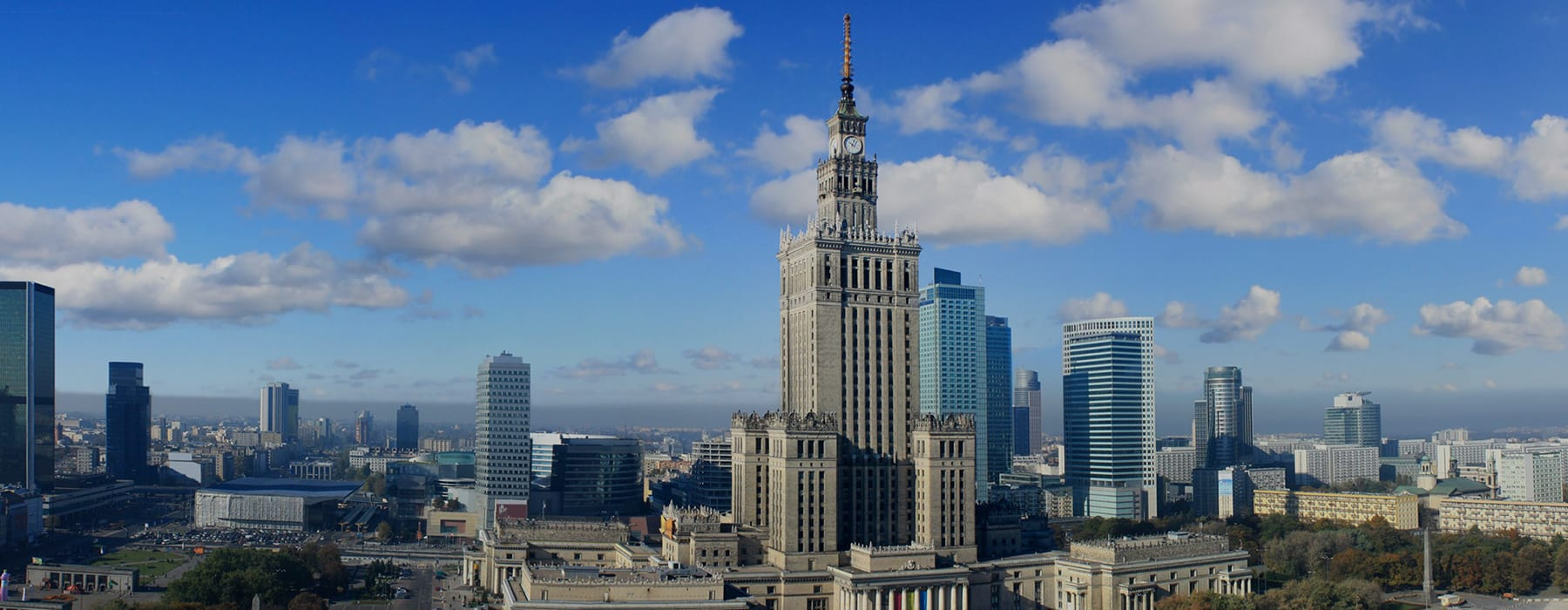 Skyline of Warsaw Downtown