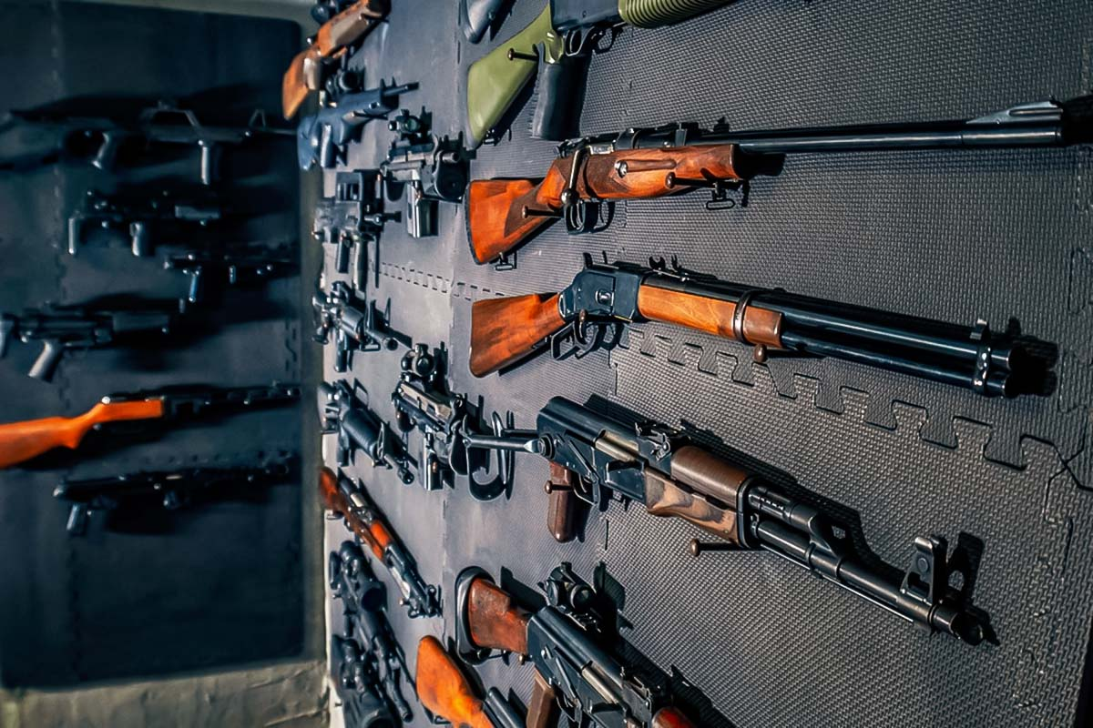 Wide variety of guns available for shooting activity in warsaw on a stag bachelor weekend