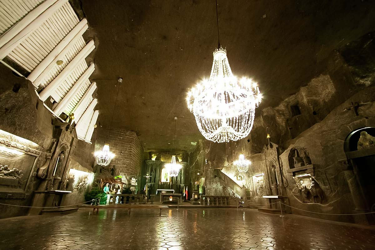 Salt mine Wieliczka is the best tourist attraction on a day trip to Krakow from Warsaw