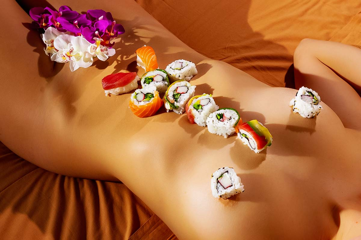 Have fun at the body sushi