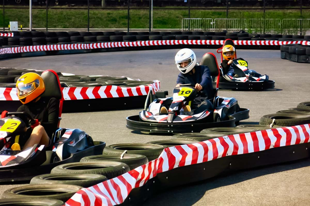Outdoor Go Karting track in Gdansk a lot of people enjoy