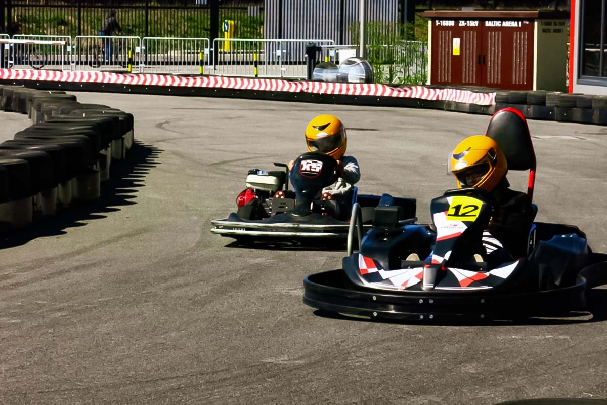 Race against your friends on a stag do activity go karts in Gdansk