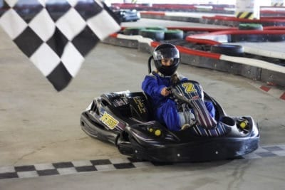Finish first to win the special prize at the go-karts Gdansk track