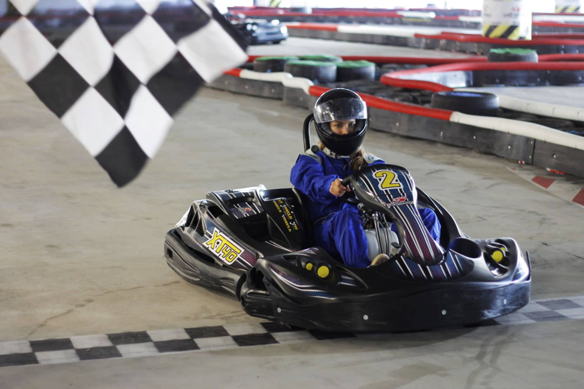 Finish first to win the special prize at the go kart track in Gdansk
