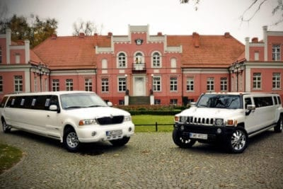 Two of our premium limousine for limo airport transfer Gdansk from Gdansk airport