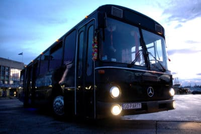Our Party Bus Gdansk from the outside - best stag activity in Sopot or Gdansk