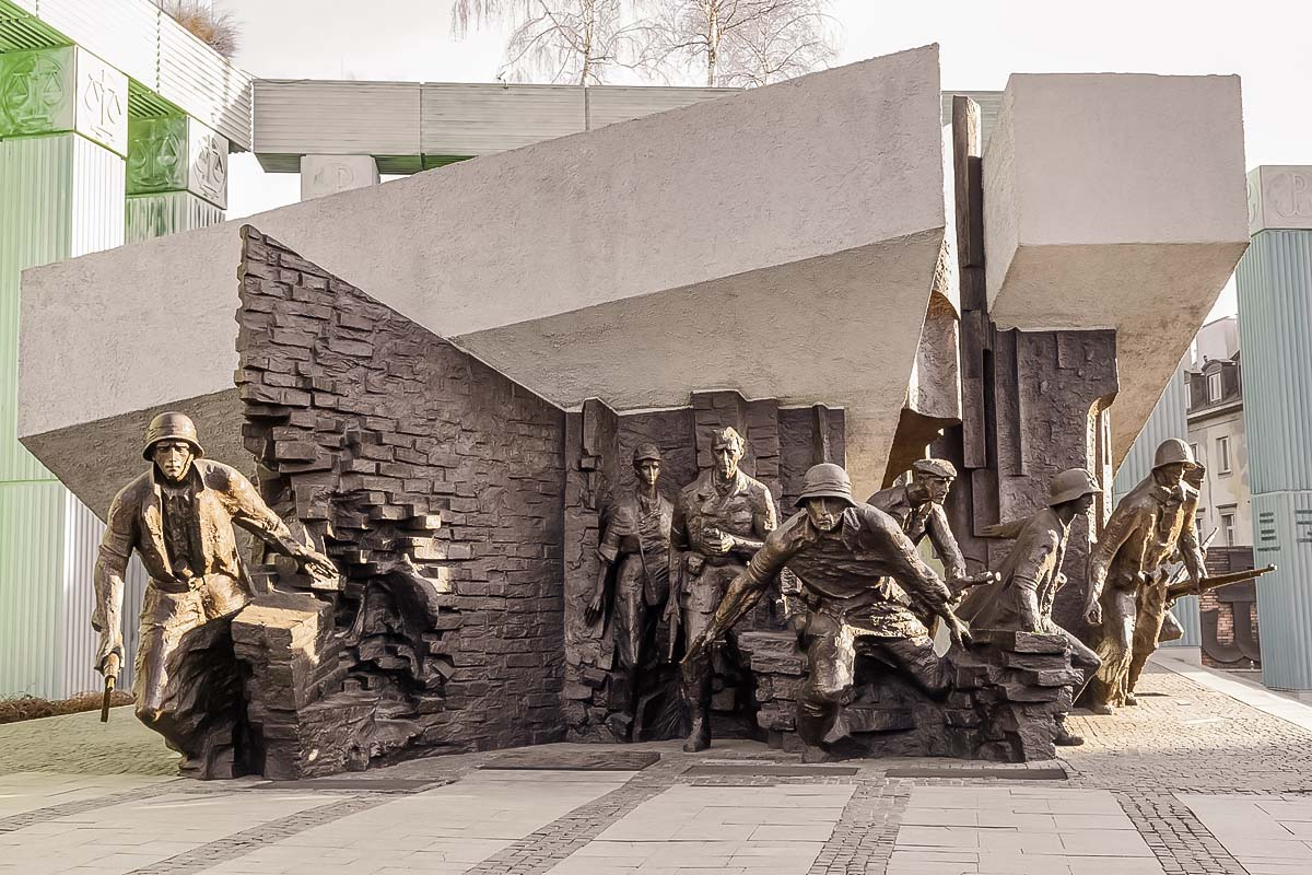 Warsaw Uprising monument located nearby the Old Town area in Warsaw will be one of the main spots to see during the Old Town Private Tour