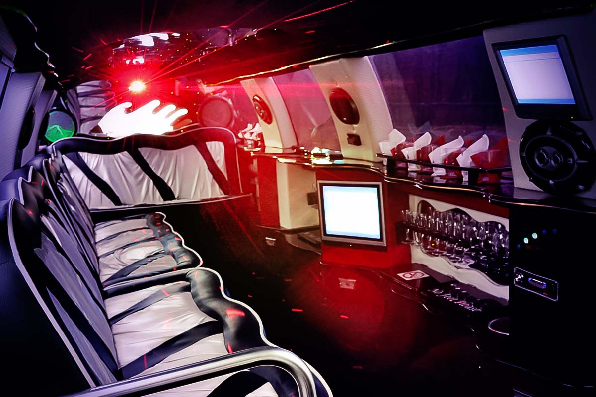 Interiors of the limousines at the limo rental in warsaw