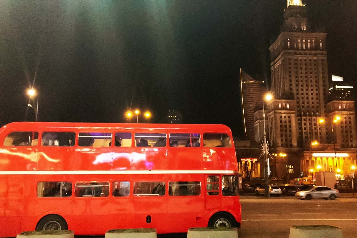 Join us for a double decker party in an awesome bus in Warsaw