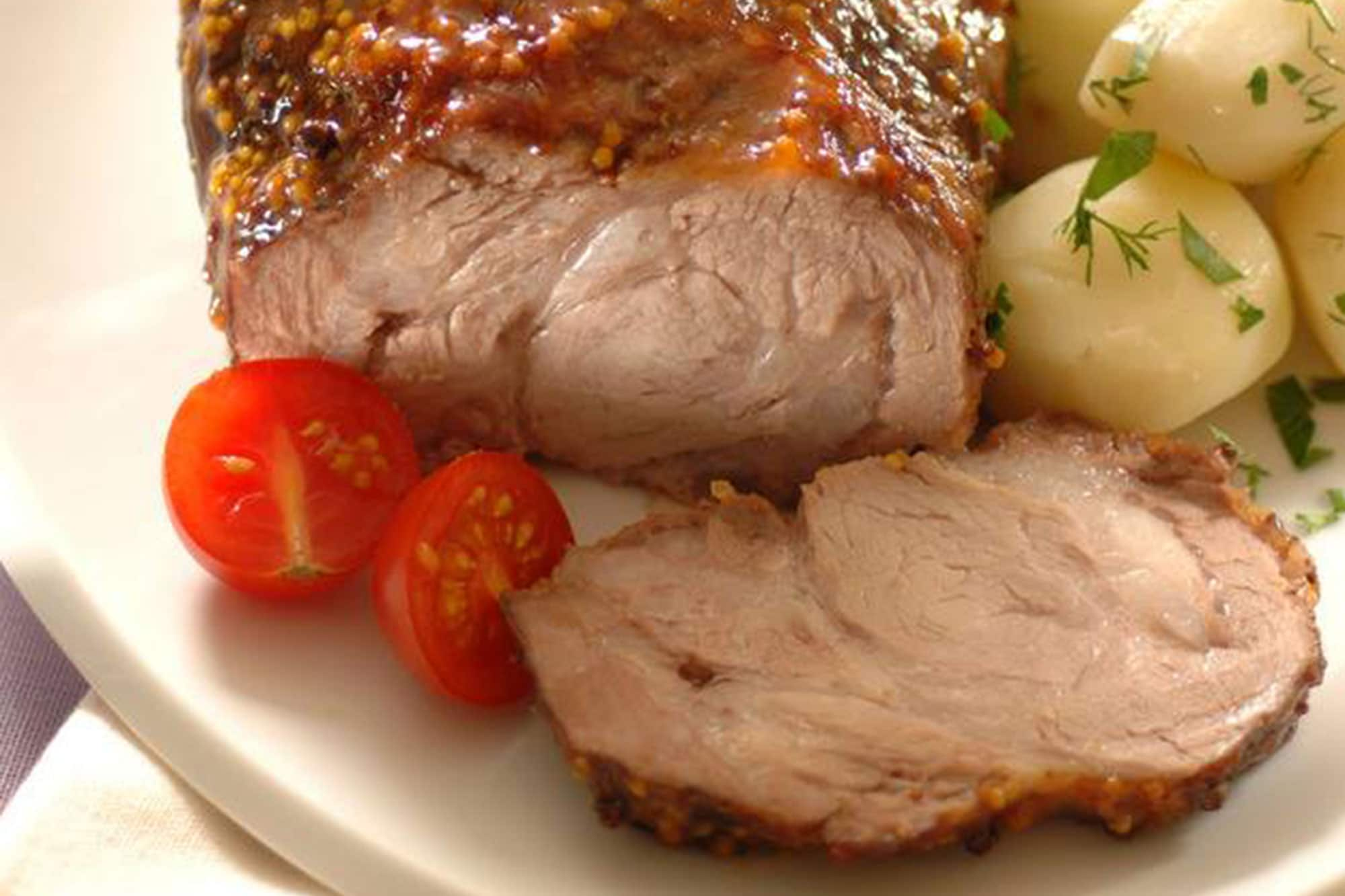 Schab is a typical meat you can find in any restaurant in Poland