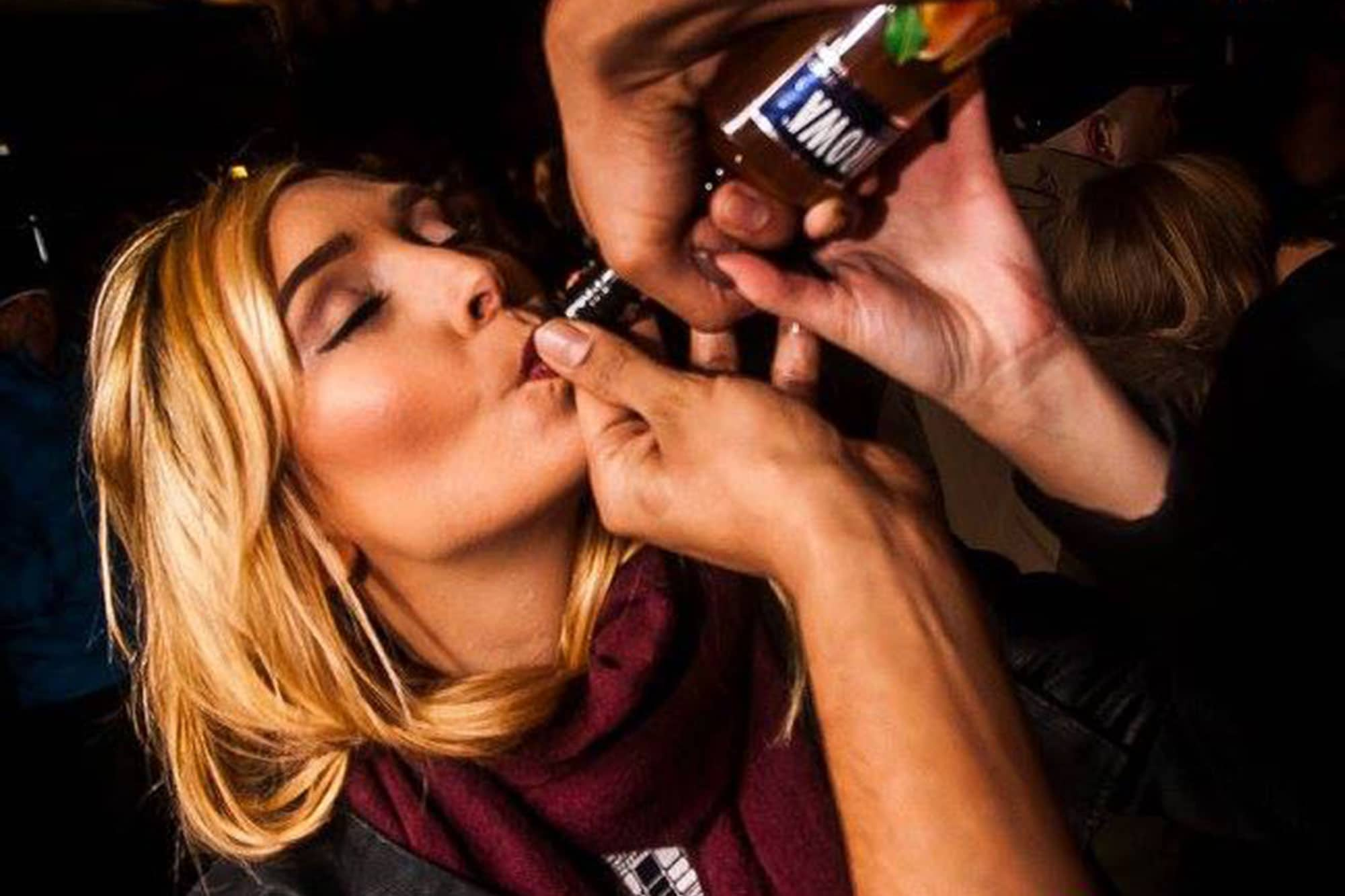 Yummy shots for girls who join our pub crawl in krakow