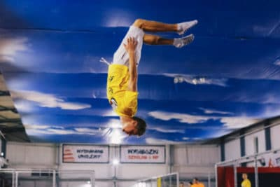 Jump around in the trampoline park in Wroclaw