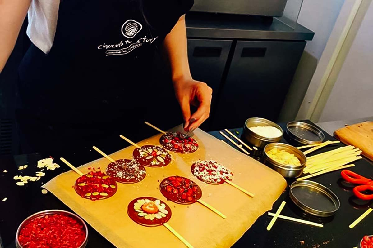 Mix and match different flavours to get your favourite taste at our chocolate workshop in Warsaw