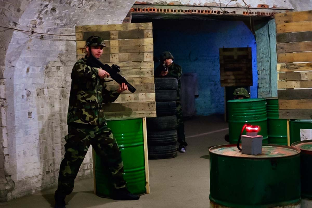 You cannot get hurt during the laser tag game in Poznan because of the special equipment prepared only for this kind of game