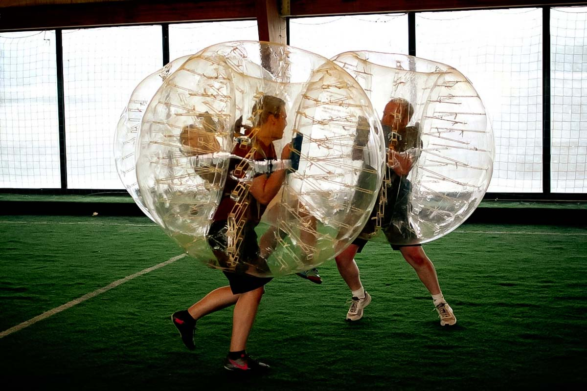 Bump into your friends on the bubble football
