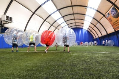 Bubble Football Activity is a great thing to do with your bachelor party in Gdansk