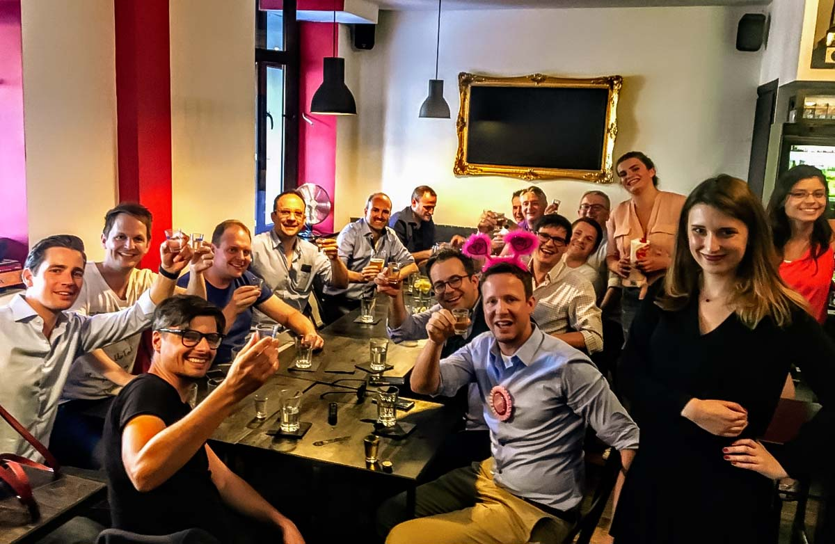 Bachelor party at our vodka tasting tour in Warsaw