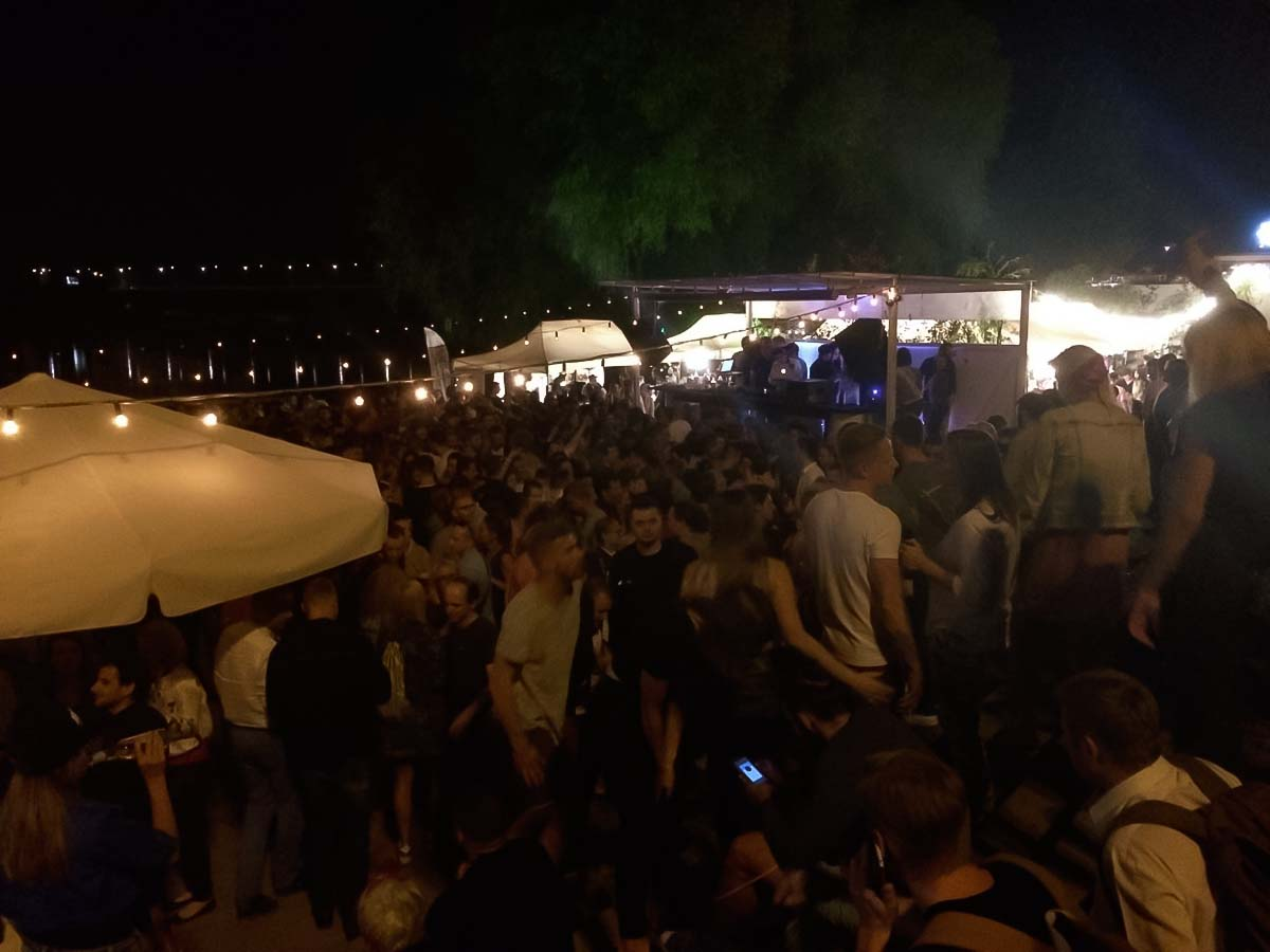 Wisla-Party in Warschau